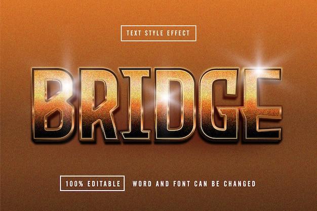 Edytowalny efekt tekstowy z brązu mostu