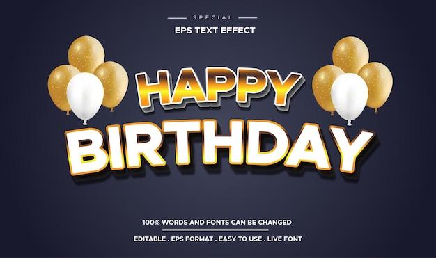Edytowalny efekt tekstowy z okazji urodzin