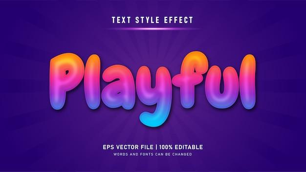 Edytowalny efekt tekstowy. zabawny efekt stylu tekstu
