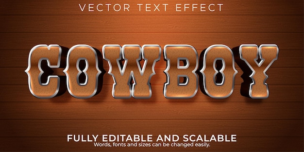 Edytowalny efekt tekstowy, zachodni styl kowbojski