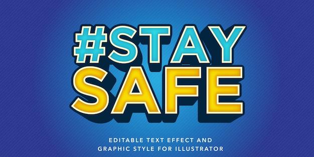 Edytowalny efekt tekstowy zapewniający bezpieczny styl tekstu