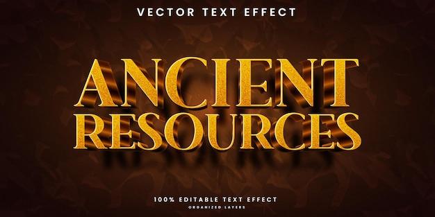 Edytowalny efekt tekstowy zasobów starożytnych