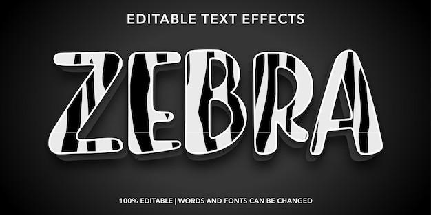 Edytowalny efekt tekstowy zebry