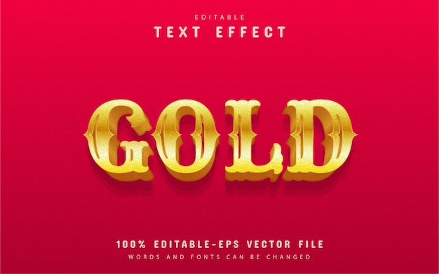 Edytowalny efekt tekstowy złota