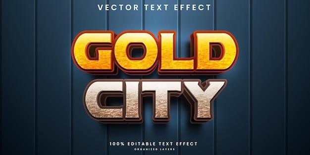 Edytowalny efekt tekstowy złotego miasta