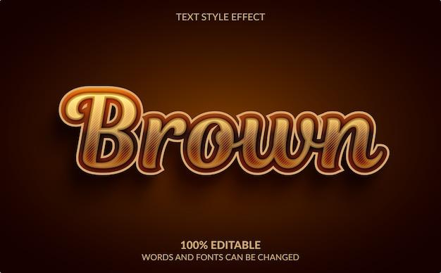 Edytowalny efekt tekstowy, złoty brązowy styl tekstu