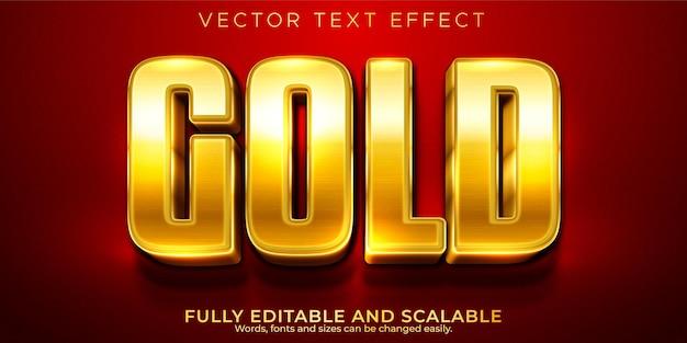 Edytowalny efekt tekstowy, złoty luksusowy styl tekstu