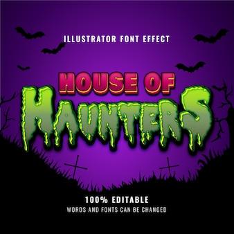 Edytowalny efekt tekstowy zombie horror