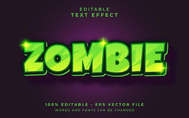 Edytowalny efekt tekstowy zombie