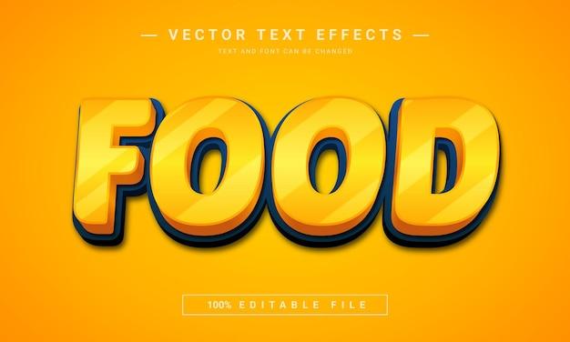 Edytowalny efekt tekstowy żywności