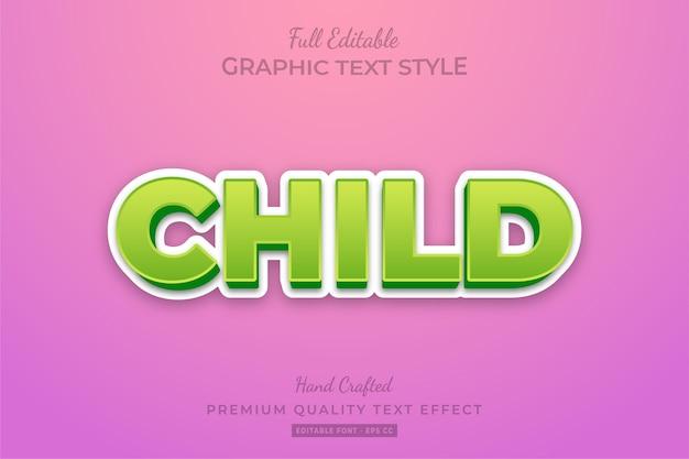 Edytowalny efekt tekstu 3d dla dzieci