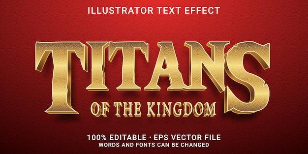 Edytowalny efekt tekstu 3d - styl titans
