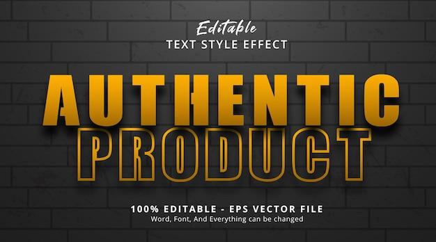 Edytowalny efekt tekstu, autentyczny tekst produktu na pogrubionym efekcie stylu