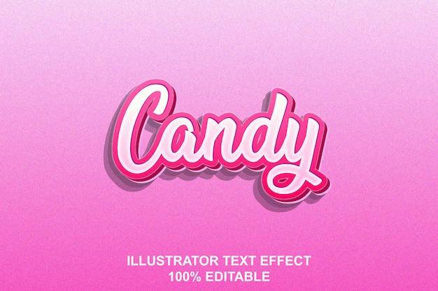 Edytowalny efekt tekstu cukierków