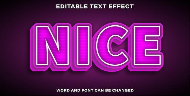 Edytowalny efekt tekstu ładny