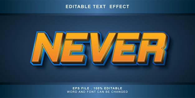 Edytowalny efekt tekstu nigdy