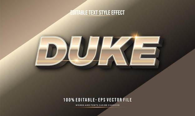 Edytowalny efekt tekstu nowoczesny błyszczący chrom. efekt stylu tekstu.
