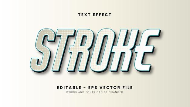Edytowalny efekt tekstu obrysu