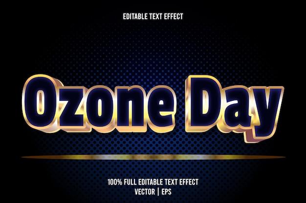 Edytowalny efekt tekstu ozonowego 3 wymiarowy luksusowy styl wytłoczenia