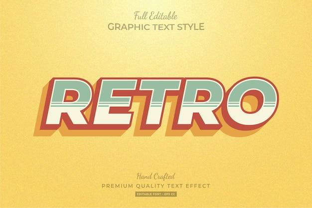 Edytowalny efekt tekstu retro strip premium