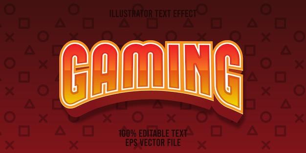 Edytowalny efekt tekstu styl gry premium