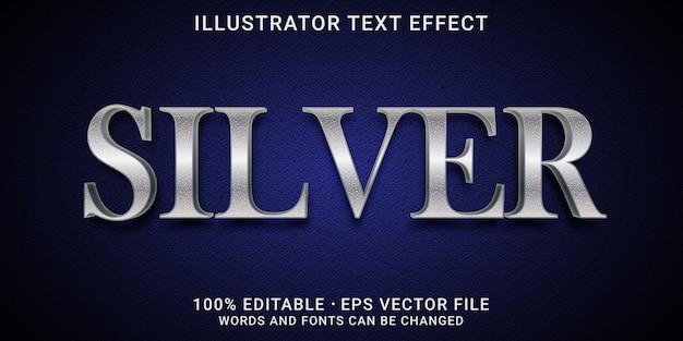Edytowalny efekt tekstu - styl srebrny