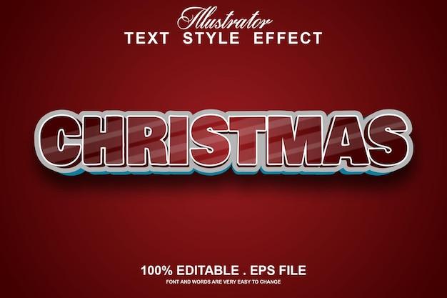 Edytowalny efekt tekstu świątecznego