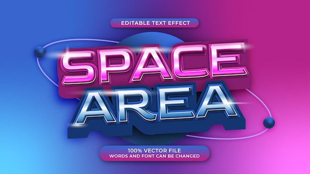Edytowalny efekt tekstu w przestrzeni kosmicznej przyszły styl gradientu