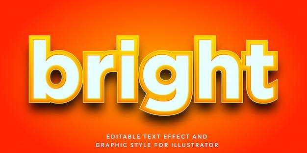 Edytowalny efekt tekstu w stylu litery