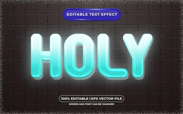 Edytowalny efekt tekstu w stylu świętego światła