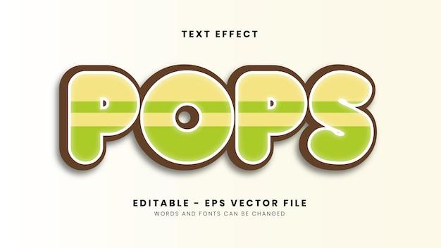 Edytowalny efekt tekstu wyskakuje