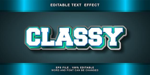 Edytowalny efekt tekstu z klasą