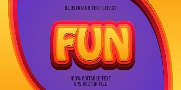 Edytowalny efekt tekstu zabawa styl premium