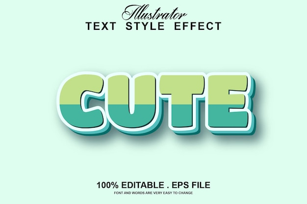 Edytowalny efekt tekstu