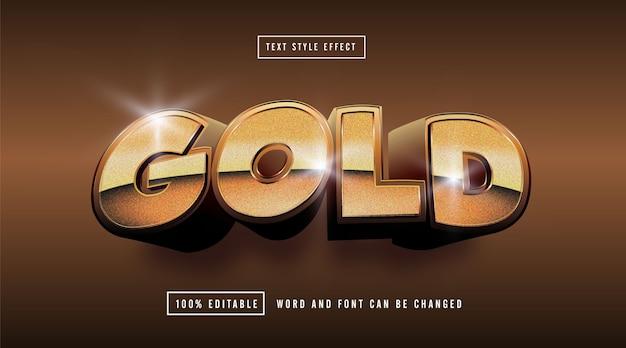 Edytowalny efekt złotego tekstu