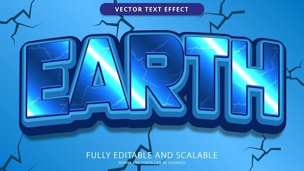 Edytowalny plik eps z efektem tekstowym ziemi