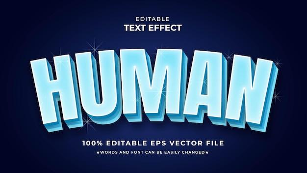 Edytowalny plik wektorowy eps ludzki efekt tekstowy