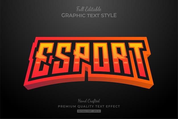 Edytowalny premium efekt tekstowy esport flame