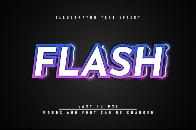 Edytowalny projekt szablonu efektów tekstowych flash