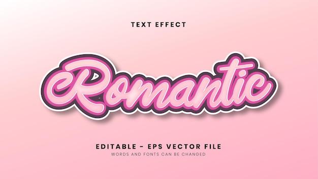 Edytowalny różowy romantyczny efekt tekstowy