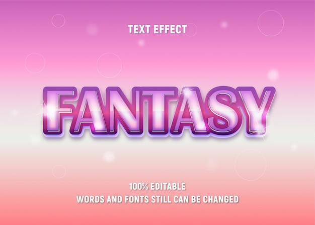 Edytowalny różowy tekst o fantasy w nowoczesnym stylu.