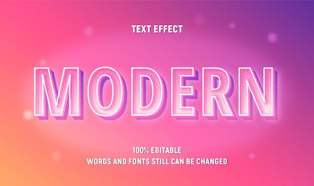 Edytowalny różowy tekst o nowoczesnym z efektem gradientu.