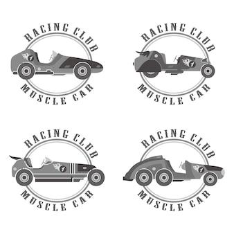 Edytowalny samochód wyścigowy wektor graficzny projekt ilustracja