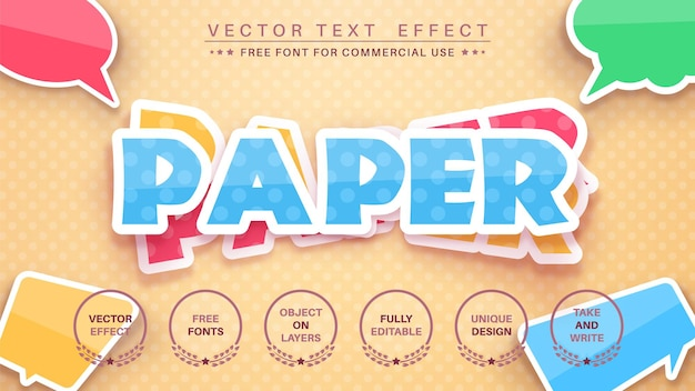 Edytowalny styl czcionki efektu tekstu naklejki