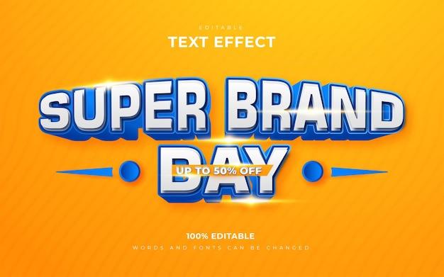 Edytowalny styl efektów tekstowych super brand day