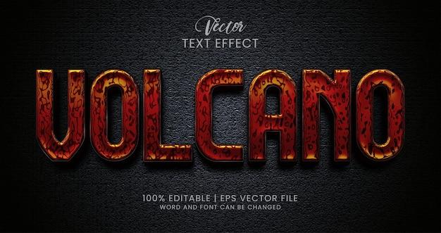 Edytowalny styl efektu tekstowego wulkanu