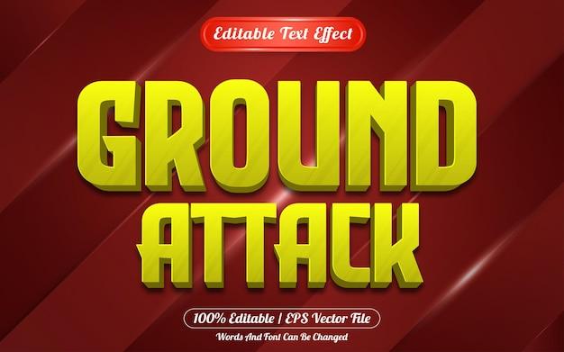 Edytowalny styl gry z efektami tekstowymi w ataku naziemnym