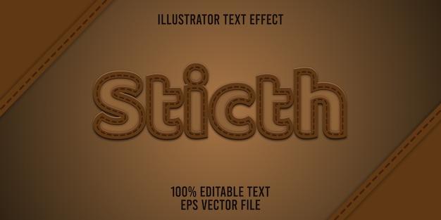 Edytowalny styl ściegu z efektem tekstowym