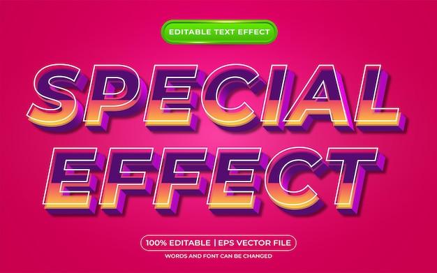 Edytowalny styl szablonu efektu specjalnego efektu tekstowego