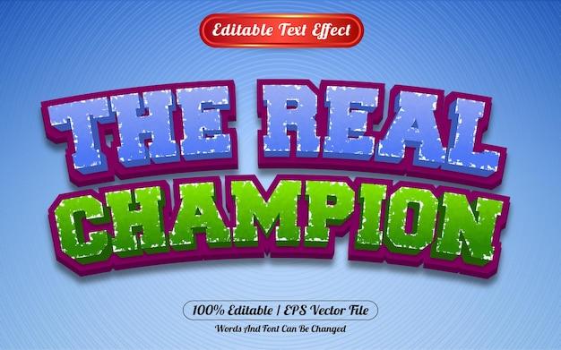 Edytowalny styl szablonu mistrza efektów tekstowych
